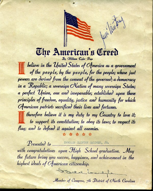 The Pledge of Allegiance and The American Creed